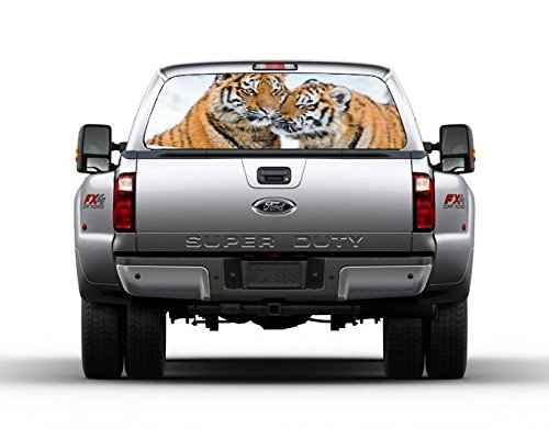 (TIGERS Car Rear Window Graphic Decal Sticker Truck SUV Van Animals 072, Large)