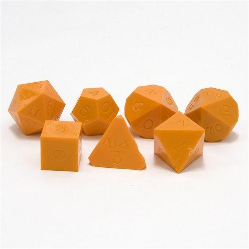 Opaque Un-Inked Precision Dice Orange GameScience Polyhedral 7-Die Set