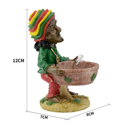 Mbswdd Decorative Ashtray Jamaican Man Ashtray Cigar Ashtray Cigarette Ashtray Unique Gift,1 (Cigars Jamaican Special)