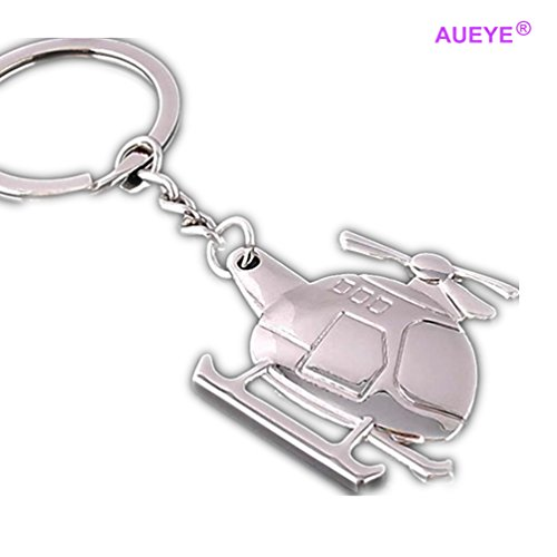 Creative Mini Helicopter Keychain Zinc Alloy Airplane Key Ring Aircraft Modeling Key Holder Private Metal Cool Designer Car Keyrings