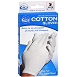 Cara Dermatological Cotton Gloves Ladies, Small 1 pair by Cara (Pack of 5)