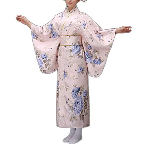 Bodbii Impresión Floral de Las Mujeres Muchacha del Kimono ...