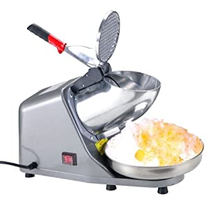 Stainless Steel Blade Countertop Electric Ice Shaver Maker Crusher Snow Cone Machine 143lbs