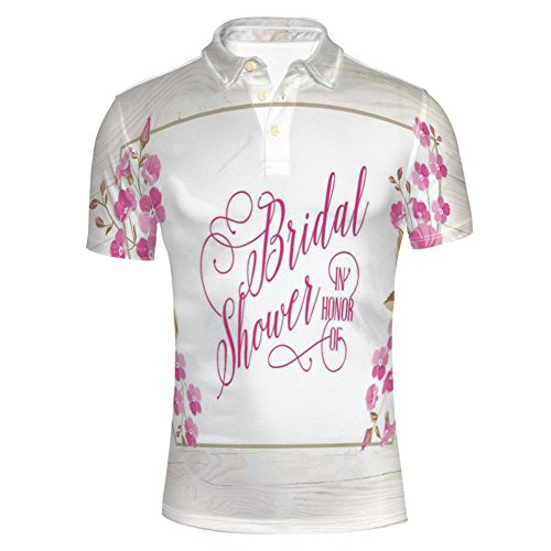 iPrint Wedding Dress with Bicycle Flowers,Charcoal Polo T-Shirts by iPrint