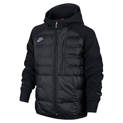 Nike Boys Aeroloft Tech Fleece Jacket Down Black (Small)