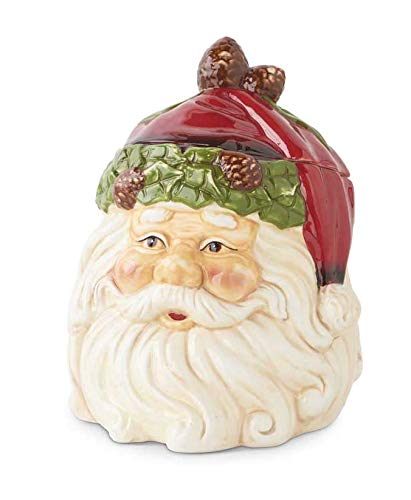 K&K Interiors Santa Face Ceramic Cookie Jar