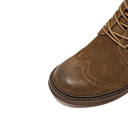 Darkcoffee Zpedy Vintage Bottines De Boots Moto Style Lisses Martin Britannique zwz4q6rp