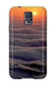 For DeaneRipman Galaxy Protective Case, High Quality For Galaxy S5 Sunset Sea Of Clouds Amp Digital Skin Case Cover
