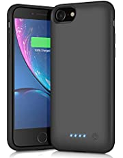 HETTP Battery Case for iPhone 6/6S/7/8, 【6000mAh】Charger Case for iPhone 6 6s 7 8 Rechargeable Extended Battery Charging Case Backup Portable Charger Case 4.7 inch Black