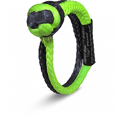 Green /& Black 52,300LB Breaking Strength Bubba Rope Gator-Jaw 176745PRO Synthetic Soft Shackle