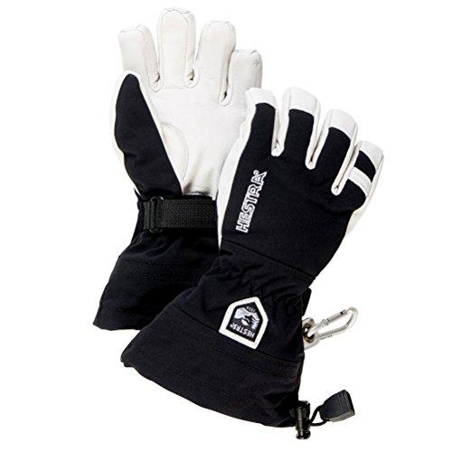 Kid's Heli Ski Jr Gloves by Hestra in Black - Size 5