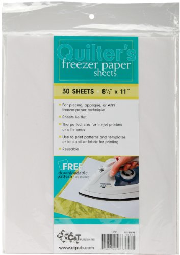 Quilter's Freezer Paper Sheets 8-1/2 Inch x11 Inch 30/pkg