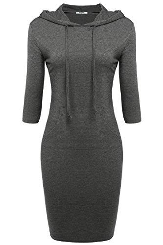 Buy casual hoodie sweatshirt dress - 7
