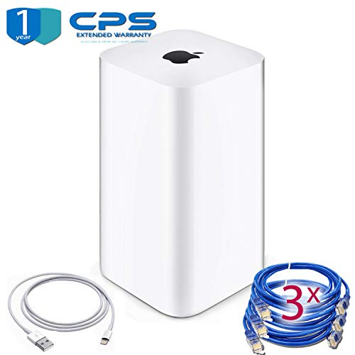 Airport Extreme (6th Generation) + 3 Ethernet Cables + 1 Lightning-USB + 1 Year Warranty (Best Setup For Airport Extreme)