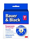 3M Bauer and Black 0-2 Suspensory with Leg Strap, Large