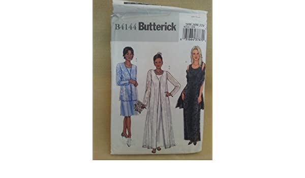Amazon.com: Butterick B4144 Misses Dress, Shawl and Duster ...