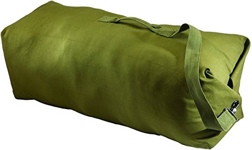 Texsport GI Style Canvas Duffel Bag,30x50in,OD Green (Texsport Canvas Duffel)