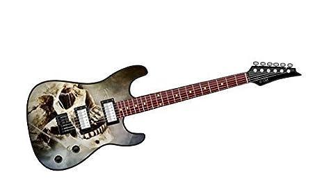 Cool diseño de Guitarra eléctrica con diseño de Calavera y telarañas. Vinilo Adhesivo Coche 150 x 50 mm: Amazon.es: Coche y moto