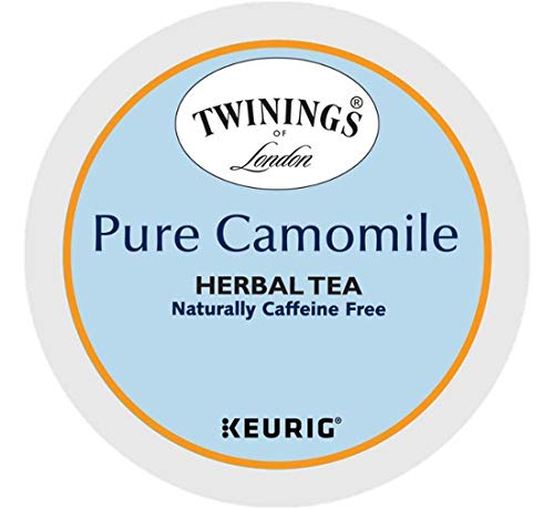 Keurig Tea and Ice Tea Pods K-Cups 18/22 / 24 Count Capsules ALL BRANDS/FLAVORS (Twinings/Chai/Celestial/Lipton/Tazo/Diet Snapple) (24 Pods Pure Camomile Tea) -  Globalpixels
