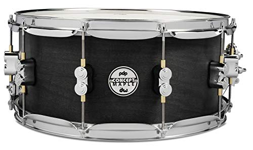 - PDP By DW Black Wax Maple Snare Drum 6.5x14