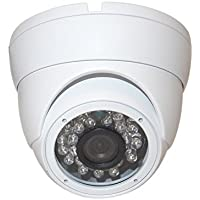 Evertech 1/3 SONY 1.3MP CMOS Sensor 1200 TV Line Vandal Proof 24 IR Wide Angle Fixes Lens White Dome Camera for Security Surveillance Systems