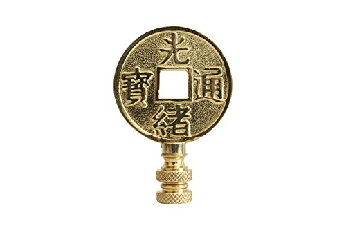 Bronze Chinese Coin Lamp Finial - Chinese Bronze Coin