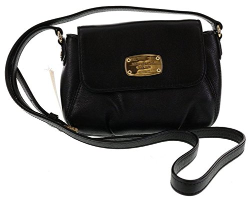 Michael Kors Small Flap Leather Crossbody in Black