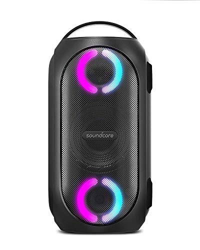 Anker Soundcore Rave Mini Portable Party Speaker, Huge 80W Sound, Fully Waterproof, USB Charger, Beat-Driven Light Show, App, Party Games, All-Weather Speaker for Outdoor, Tailgating, Beach (Renewed)
