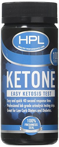 HPL 100-ct Ketone Test Strips and Check Ketosis Levels for F