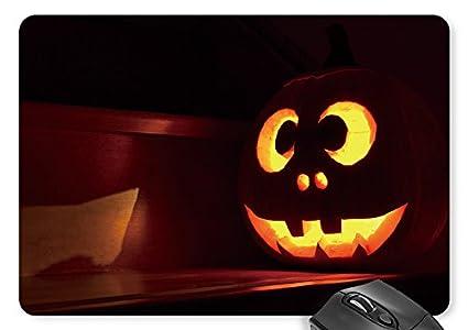 amazon com mouse mat cute pumpkin face mouse pad office products