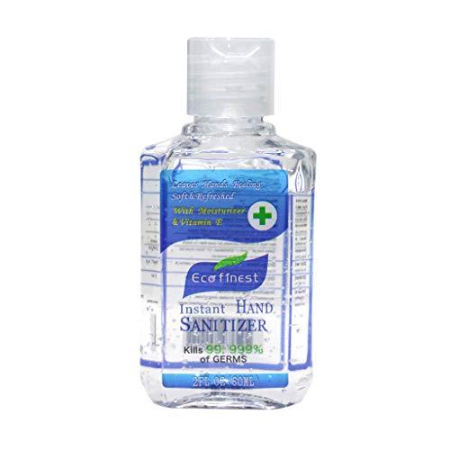 Instant Hand Sanitizer Gel Fruit Flavor - No-Rinse Hand Wash Cleaner Antibacterial Moisturizing Hand Sanitizer, Alcohol-Free, Kills 99.99% Germs (Blue)