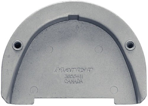Martyr CM3855411Z, Zinc Alloy Volvo Penta Transom Plate Anode for SX drive
