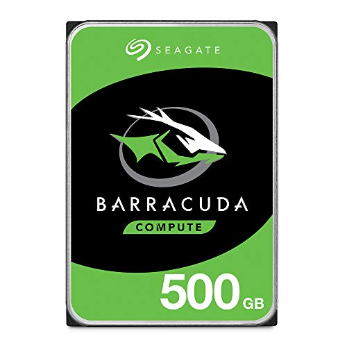 Seagate BarraCuda 500GB Internal Hard Drive HDD - 3.5 Inch SATA 6 Gb/s 7200 RPM 32MB Cache for Computer Desktop PC (ST500DM009)