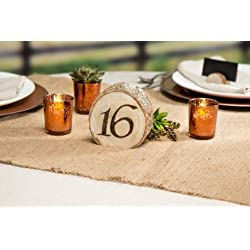 Darice David Tutera Rustic Wedding Wood Slice Table Numbers: 20Piece