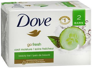 Dove go fresh Beauty Bar Cucumber and Green Tea 4 oz, 2 Bar