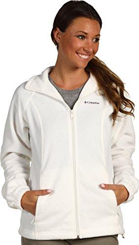 Columbia Women's Benton Springs Classic Fit Full Zip Soft Fleece Jacket, sea salt, XL
