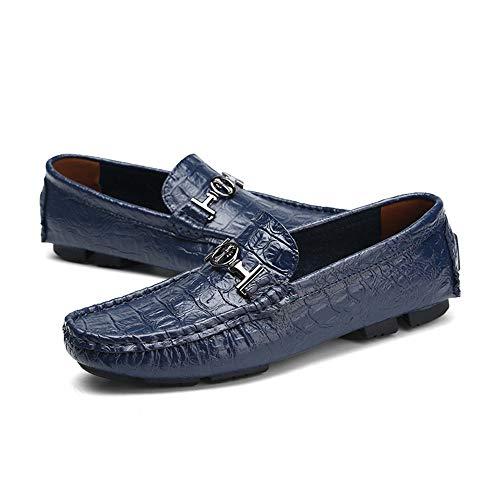 EU Hombre Mocasin Color marrón Gommino Azul único Zgsjbmh Azul Corte 24 Azul Piel bajo auténtica cm Piel para de de Zapatos 40 tamaño Gommino 5 30 diseño cm Negro Mocasin wxIxvqf