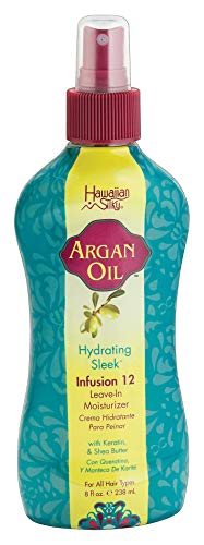 Argan Oil Leave In Conditioner 12 oz - Vitamin E & Shea Butter Enriched Moisturizer, with 12 Benefits Infusion - Good On Color Treated Hair - for Men, Women & Kids