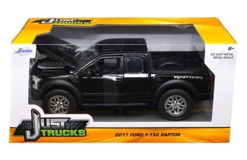 Jada 1:24-Just Trucks-2017 Ford F-150 Raptor (Black) Diecast Vehicle (Truck Diecast Black)