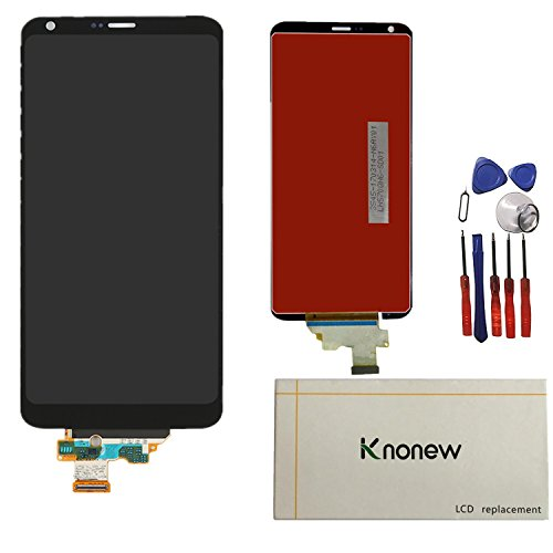 KNONEW Glass LCD Display Touch Screen Digitizer Assembly Replacement part For LG G6 H870 H871 H872 LS993 VS998 US997 LCD + Tools (Black) by SCREENHOME