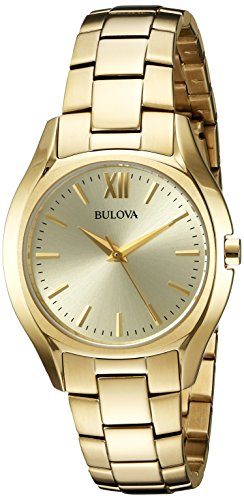 Bulova Women's Quartz and Stainless-Steel Casual Watch, Color:Gold-Toned (Model: 97L150)