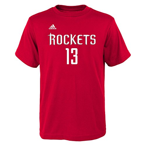 NBA Youth Boys 8-20 Houston Rockets James Harden Name and Number Short Sleeve - James Fashion Harden
