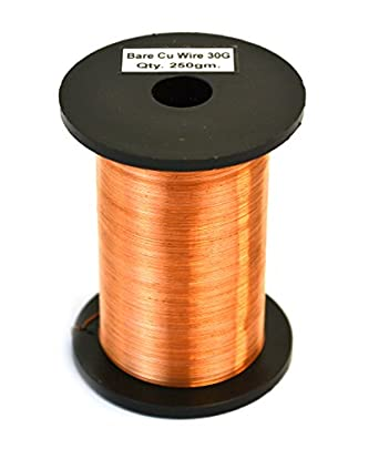 Amazon eisco labs copper wire bare 1150ft reel 30 swg 3233 eisco labs copper wire bare 1150ft reel 30 swg 3233 greentooth Images
