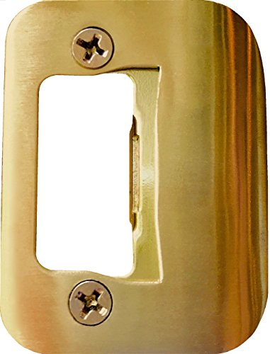Adjustable Brass Locks (GATOR Door Latch Restorer - Strike Plate (Bright Brass))