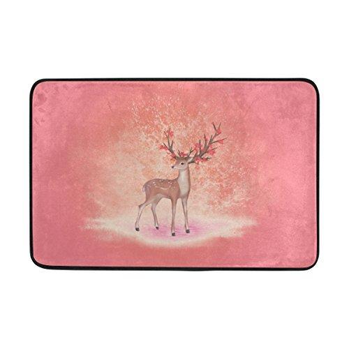 Elk Trapper (Doormat Super Absorbs Mud Non-Slip Indoor and Outdoor Door Mat with Fantasy Elk for Front Door Inside Floor Dirt Trapper Mats 15.7