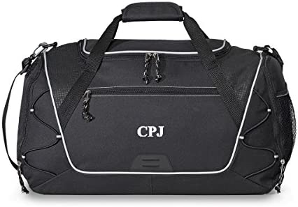 Personalized Sports Duffel Bag – Personalized Gym Bag – Monogrammed Sports Duffel Bag Black, Set of 5 – Father s Day Gift for Dad, Grandpa, Husband, Boyfriend, Stepdad, Uncle, Brother