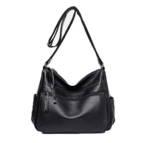 Sacs bandoulière FBUFBD180974 sacs Noir AllhqFashion Achats à Pu Des Femme Zippers Cuir 0nB1wzq