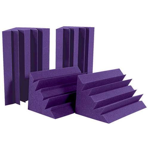 Auralex LENPUR LENRD Bass Traps in Purple 8- 12x12x17 Triangular; 24 Long by Auralex Acoustics