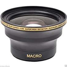 0.30x HD Super Wide Angle Panoramic Macro Fisheye Lens For The Nikon D3000, D3100, D3200, D5000, D5100, D5200, D5300, D7000, D7100, D3, D4, D40, D40x, D50, D60, D70, D70s, D80, D90, D100, D200, D300, D600, D610, D700, D800E, D800, Digital SLR Cameras Which Have Any Of These (18-55mm, 55-200mm, 50mm) Nikon Lenses