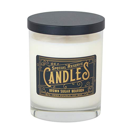 Special Reserve Candles Brown Sugar Bourbon Scented Soy Wax Candle - Libbey Tumbler with Black Metal Lid - 10 oz. Brown Sugar Soy Candle